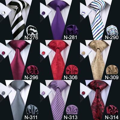 USA Classic Men's Tie 90 Colors Blue Black Red Jacquard Silk 100% Necktie Set
