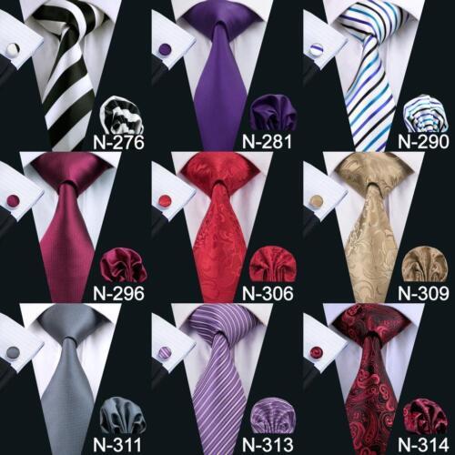 Купить Hi Tie - USA Classic Men's Tie 90 Colors Blue Black Red Jacquard Silk 100% Necktie Set