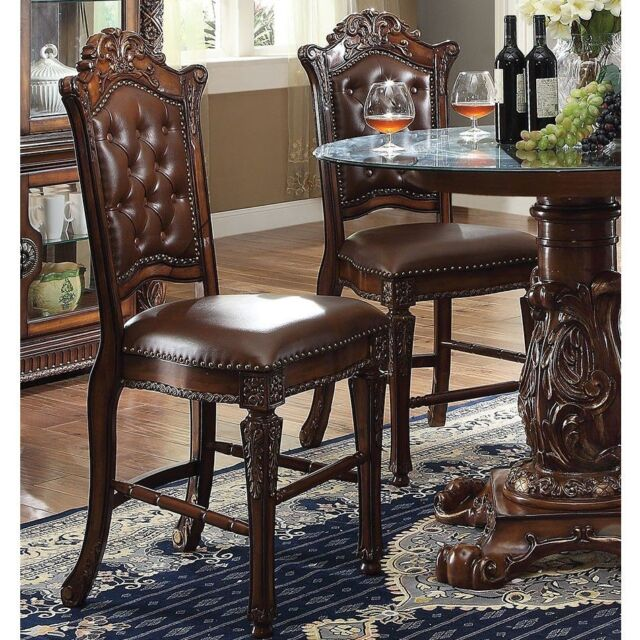Acme Vendome Collection Dining Chair In Cherry Finish, Set Of 2 Chair,  62004 New