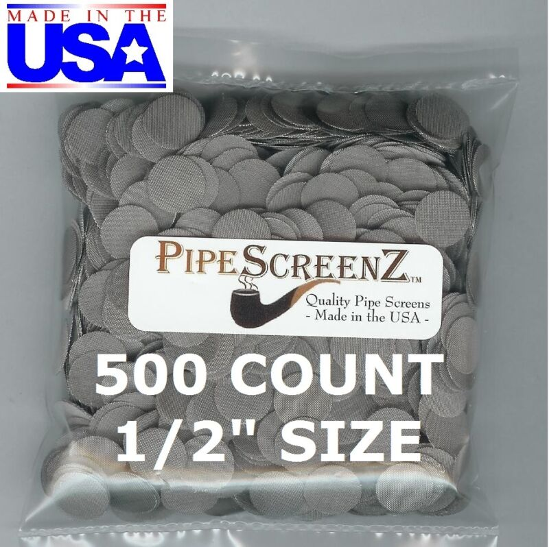 """500+ Count 1/2"""" Stainless Steel Pipe Screens HIGHEST QUALITY - MADE IN USA!"""