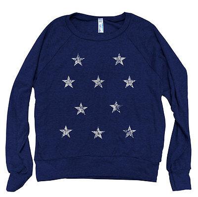 ON SALE STARS Women Pullover American Apparel Tri-Blend Light Weight - American Apparel Raglan Pullover
