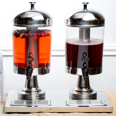 4.2 Gallon Stainless Steel Double Ice Core Cooler Tea Drink Beverage Dispenser