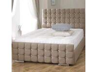BRAND NEW CRUSH VELVET CUBE BED SET E