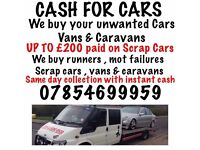 CASH FOR CARS!! MOT FAILURES SCRAP AND DAMAGED! CASH PAID UPTO £250 ON COLLECTION! 07854699959!!
