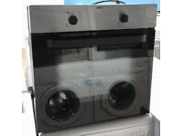 a443 stainless steel and black zanussi single integrated electric oven comes with warranty