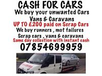 CASH FOR CARS!! UPTO £250 FOR MOT FAILURES SCRAP AND DAMAGED VEHICLES! CALL 07854699959! R&M MOTORS!