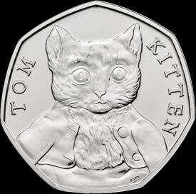Uncirculated Tom Kitten 50p piece