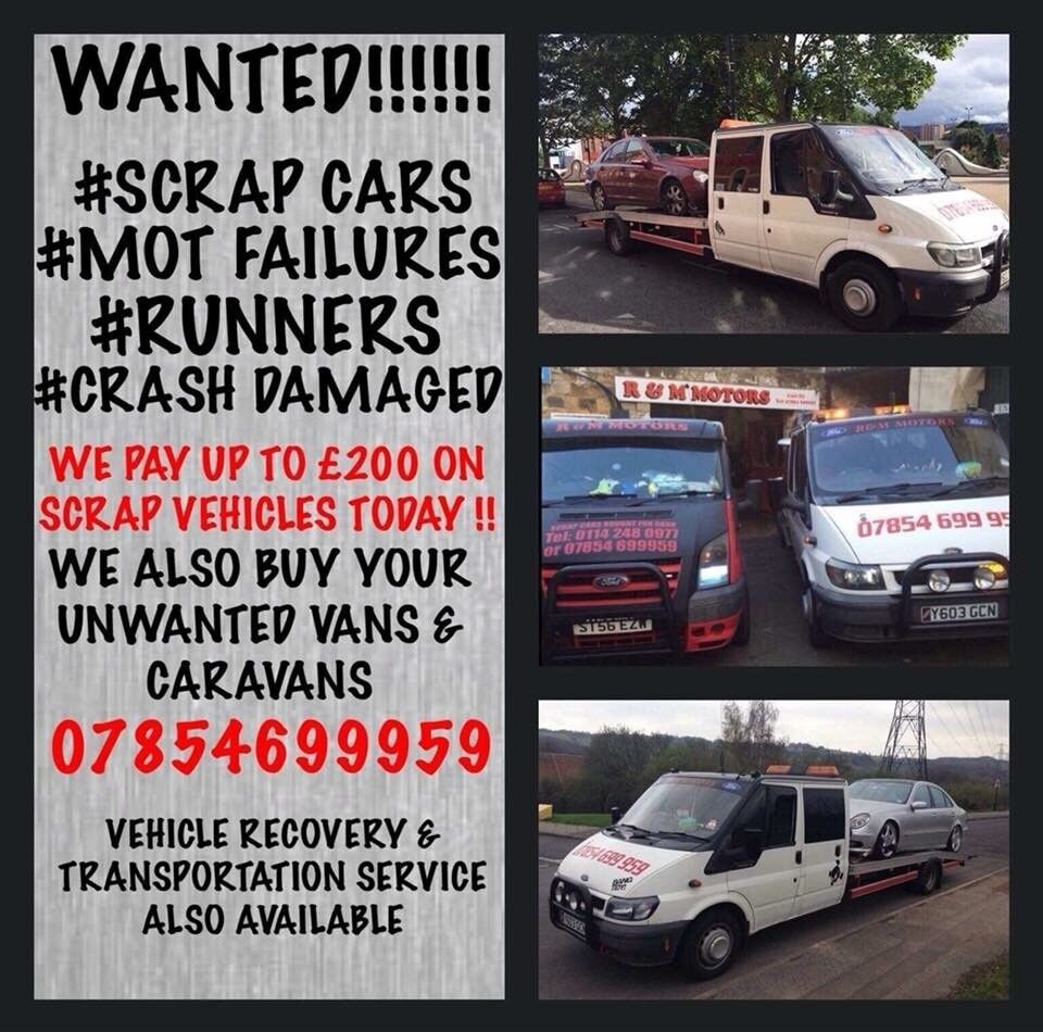 200 cash for scrap cars, vans or why also mot failures!! We also buy ...