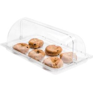 Roll Top Cover Tray Countertop Display Acrylic Bakery Donut Pastry Sample Case - BRAND NEW - FREE SHIPPING