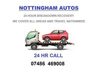 24 HOUR RECOVERY SERVICE FOR CARS & VANS BREAKDOWNS TRANSPORT ECT NOTTINGHAM AND SURROUNDING AREAS