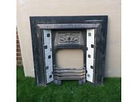 Cast Iron Reclaimed Victorian Style Fireplace with Modern Tiles