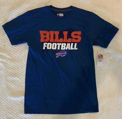 Nfl Football Mens Ring (NFL Team Apparel Buffalo Bills Football Mens Graphic Tee( Size M) Ring Spun Soft )