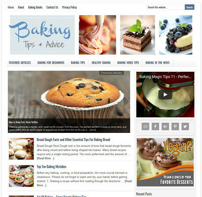 Baking Tips Turnkey Website Business For Sale W Daily Auto Content Updates