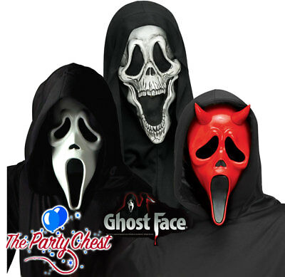 OFFICIAL SCREAM SKELE FACE DEVIL GHOST FACE MASK Halloween Horror Collectibles - Devil Face Mask