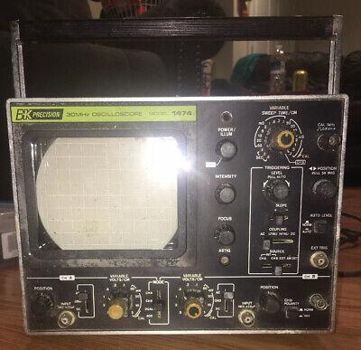Vintage Bk Precision 30 Mhz Oscilloscope Model 1474