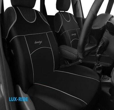 Wheels N Bits Vauxhall//Opel Astra G H F GREY /& BLACK Cloth Seat Cover Set Split Rear Seat