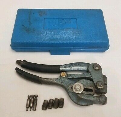 Roper Whitney Co. Rw Jensen No.5 Jr. Hand Punch Set With Case And Dies