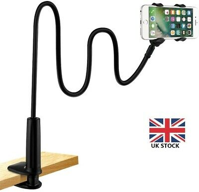 Universal LONG ARM Holder Mount Stand For Mobile Phone iPhone Bed Clamp UK STOCK
