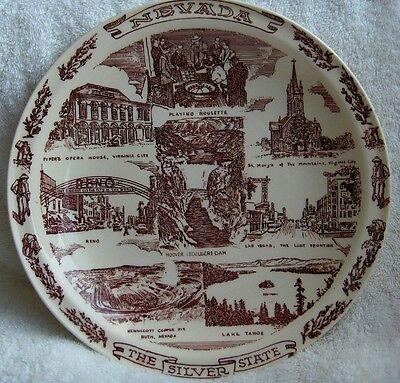 Vernon Kilns Nevada~The Silver state collector plate-NR
