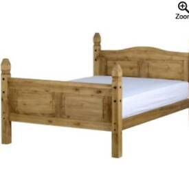 double bed frame pine