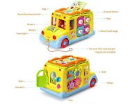 Baby Toys Early Educational Intellectual Bus Toy Vehicle with Multiple Function