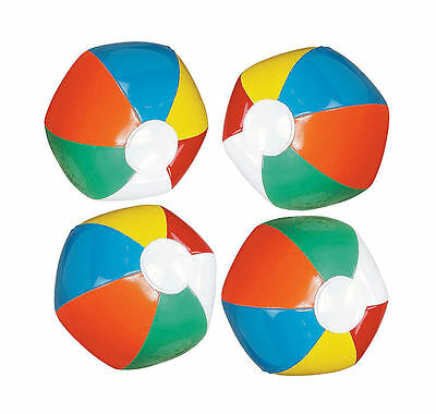 12 MINI BEACH BALLS traditional LUAU POOL BIRTHDAY party favors decorations - Mini Beach Balls Favors