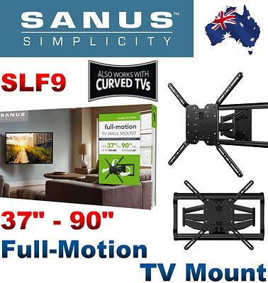 "SANUS Simplicity SLF9 37"" - 90"" Full-Motion TV Mount for Flat & Curved TVs"