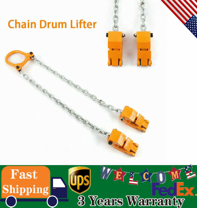Vestil Chain Drum Lifter 2000 Lbs Capacity Transport Lifting Yellow