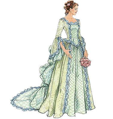 NEW MCCALLS VICTORIAN RENAISSANCE STEAMPUNK COSTUME WEDDING DRESS PATTERN M6097 - Renaissance Costume Pattern