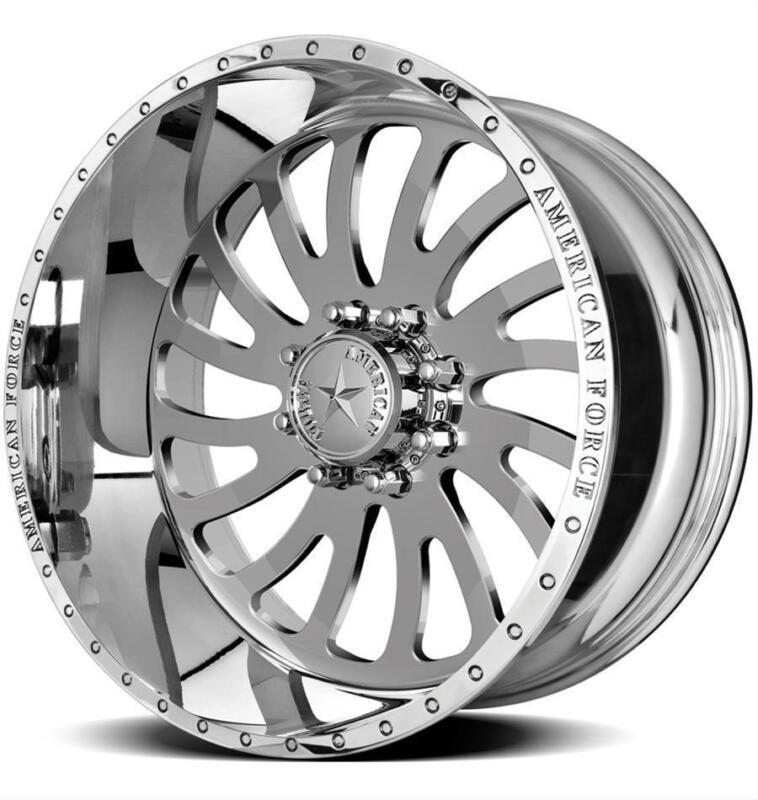 22 Inch 22x12 American Force Octane Ss  Polished Wheel Rim 8x170 -40