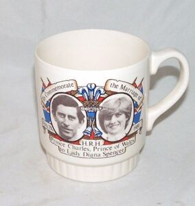Broadhurst Pottery Mug Marriage Prince Charles and Lady Diana 1981 English