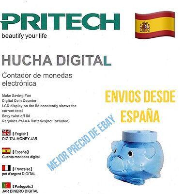 Hucha Cerdito Digital Cuenta Monedas Pantalla LCD PRITECH