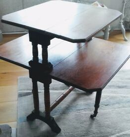 Victorian drop leaf tea table