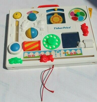 Vintage VTG 1988 FISHER PRICE ACTIVITY CENTER BUSY BOX BABY CRIB TOY D236.141