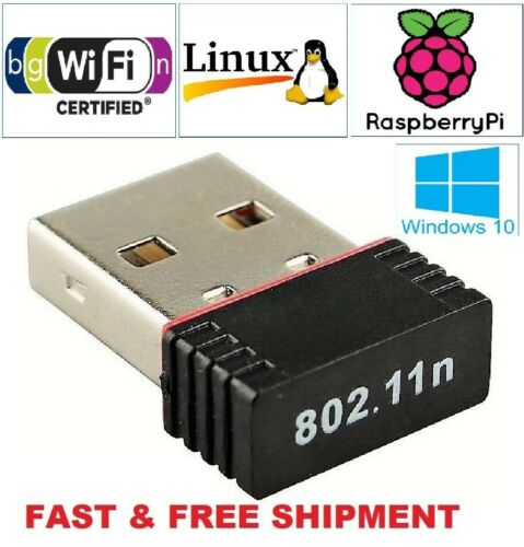New Realtek Mini USB Wireless 802.11B/G/N LAN Card WiFi Network Adapter RTL8188