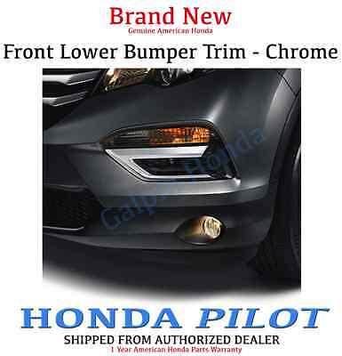 Genuine OEM Honda Pilot Chrome Front Bumper Trim 2016 - 2018     (08F23-TG7-100) Genuine Honda Pilot
