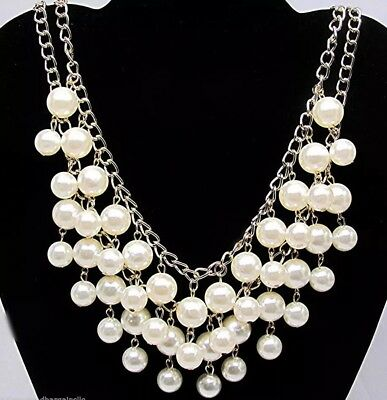 2 Broke Girls Caroline Inspired Pearl Statement Necklace Fashion Great Cospaly