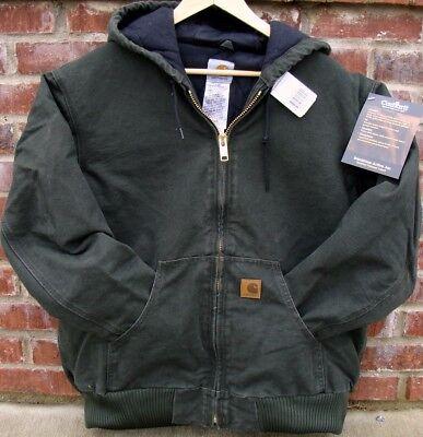 Carhartt J130 Sandstone Jacket Flannel Moss Green Lg