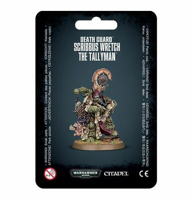 Death Guard Scribbus Wretch, the Tallyman - Warhammer 40k - Brand New! 43-45C