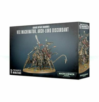 Chaos Marines Vex Machinator, Arch-Lord Discordant - Warhammer 40k - New! 43-59
