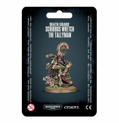 Scribbus Wretch, the Tallyman Death Guard Chaos Warhammer 40K NIB Flipside