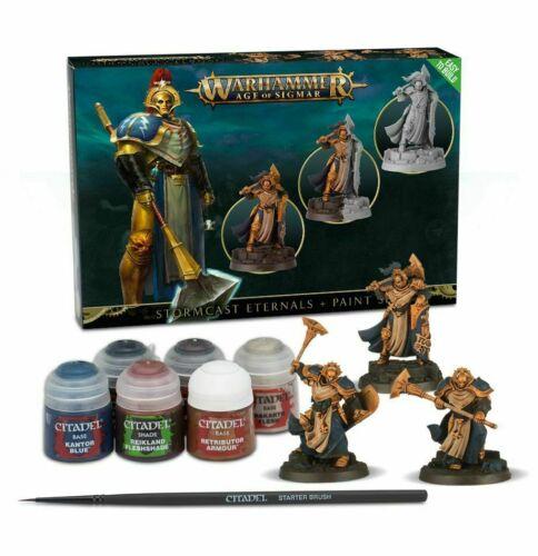 Warhammer Aos Stormcast Eternals + Paint Set-Games Workshop