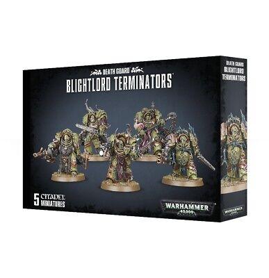 Death Guard Blightlord Terminators Games Workshop Warhammer 40000 Brand New