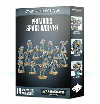 Start Collecting! Primaris Space Wolves - Warhammer 40k - Brand New! 70-53