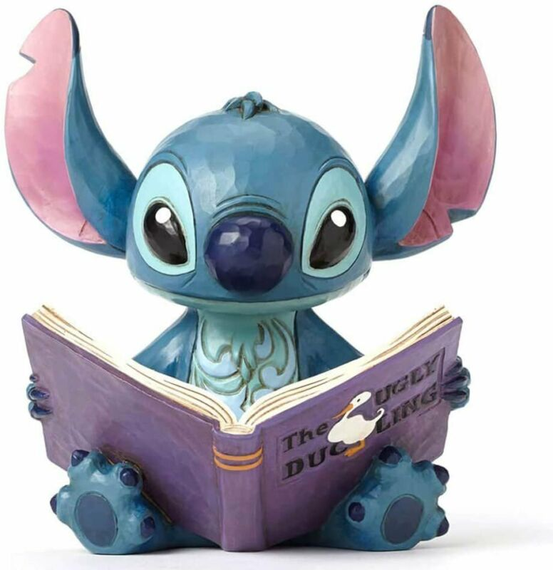 """Disney Traditions by Jim Shore """"Lilo and Stitch"""" Stitch with a Storybook..."""