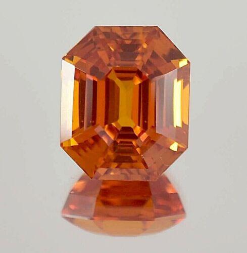 AAA 10.30 Ct Natural Mozambique Spessartite Garnet Radiant Cut Loose Gemstone