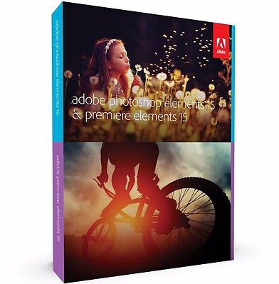 Adobe Photoshop & Premiere Elements 15 for Windows & Mac - Full Version ✔NEW✔
