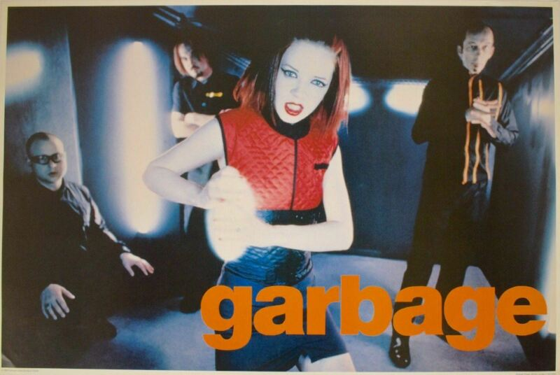 Garbage Vintage 1998 Band Shot Poster 24.5 x 36.5