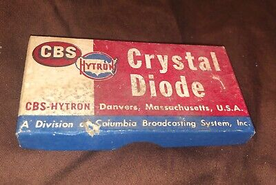 Vintage Cbs-hytron 1n48 Germanium Crystal Diode Unused And In Original Old Box