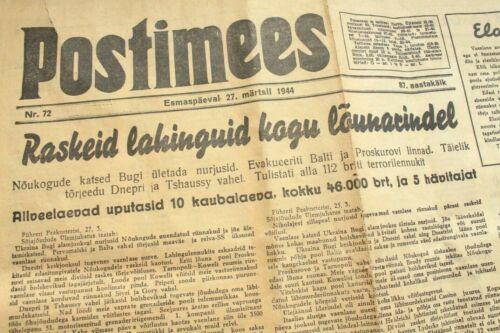 WW2 Postimees 1944 !!!